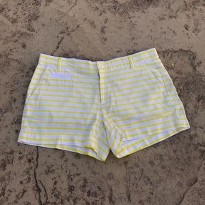Gap Yellow Striped Shorts